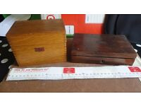 Vintage Weis Wood File Box & Instrument box