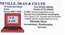 TAX RETURNS ~ ACCOUNTS ~ BOOKKEEPING ~ PAYROLL ~ CIS SERVICES