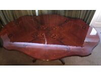 Antique oval dining table