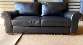 New/Unused High Quality Salisbury 3 Seater Leather Sofa - Black.