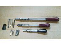 Three Yankee screwdrivers, Large, Medium,and small