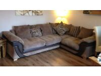 Corner sofa and chair £350