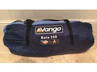 Vango beta 350. 3 man tent