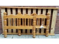 single bed pine wood frame. In very good condition.