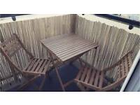 B&Q Garden table and Chairs