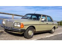 Classic 1984 Mercedes W123 230 with 2,5 Diesel 5 speed manual W124 engine