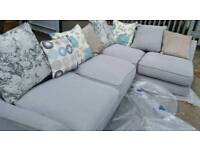 EX DISPLAY Large Corner Sofa Grey DELIVERY AVAILABLE
