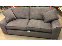 Brand New Heart of House Lincoln 3 Seater Fabric Sofa - Grey
