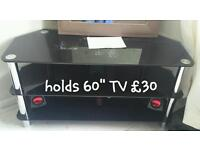 """Very large glass TV unit 60"""""""