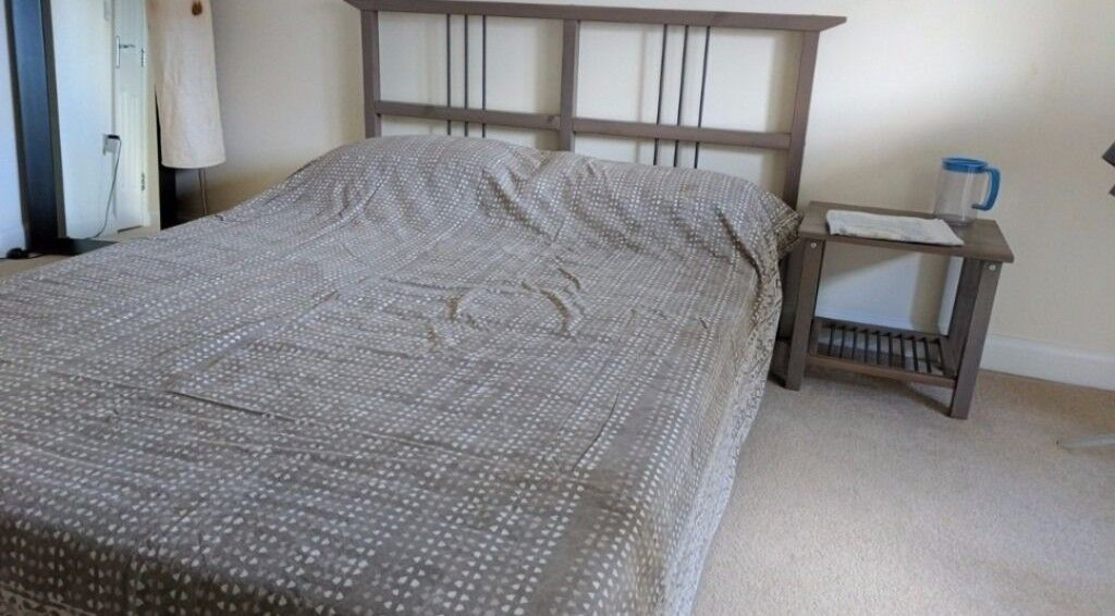 Double bed matching bedside tables optional mattress