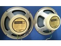 2x Vintage 1974 Celestion Creamback G12M 25w 16ohm 75hz Speakers In Near Mint Condition.