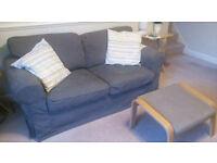 2 seater Sofa EKTORP Ikea + Free Footstool