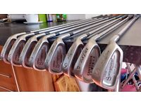 John Letters Swingmaster Millenium Golf Irons, right handed. 4 - 9 irons, Sand wedge, Pitching wedge