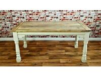 Used, Kitchen Folding Extending Oak Style Dining Table Reclaimed 10ft Space Saving - Free Delivery for sale  Balgreen, Edinburgh