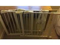 3 x Mothercare Baby Gates with 3 extenders