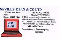 BOOKKEEPING, CIS, VAT, PAYROLL, TAX RETURNS, YEAR END ACCOUNTS