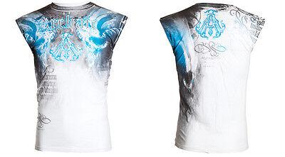Archaic Affliction Mens T Shirt Sleeveless Tattoo Fight Biker Gym Mma Ufc  40 F