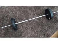 Barbell plus 2 x 10kg weights