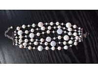Multi-strand pearl bracelet, river pearls, not worn (by Lido)
