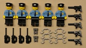 x5 NEW Lego Cops CITY TOWN Minifigure Lot Police Men Guys