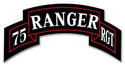 """75th Ranger Regiment Tab 5.5"""" Sticker / Decal 'Officially Licensed'"""