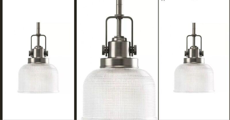 3X PROGRESS LIGHTING P5173-81 Archie 1-Light Mini-Pendant, 100 W, Antique Nickel
