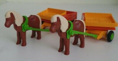 Two Playmobil Pony & Carts - Farm/ Horse/ Castle/ House/ Victorian