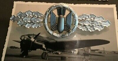 LUFTWAFFE FLYING CLASP – BOMBER - SILVER - GERMAN FEDERAL REPUBLIC  PATTERN