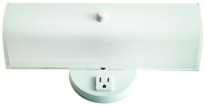 2 Bulb Wall - 2 Bulb Bathroom Vanity Light Fixture Wall Mount with Plug-in Outlet, White