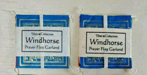 (DLO) NEW Set of 2 Tibetan Windhorse Mini Room 5 Prayer Flag Garland