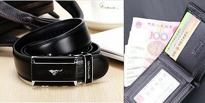 MENS HIGH QUALITY LEATHER BELTS AND WALLETS WITH FREE GIFGT BAGS AT A GREAT PRICE!