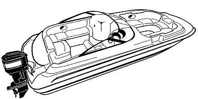 7oz STYLED TO FIT BOAT COVER HURRICANE SUNDECK SD 260 O/B 2006-2009