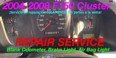 REPAIR 2005 Ford F150 Instrument Gauge Cluster Odometer + Brake + Airbag Light ()