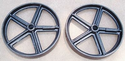 Antique Hit Miss Gas Engine Cast Iron Cart Wheel Pair 12 X 2 Lineberry