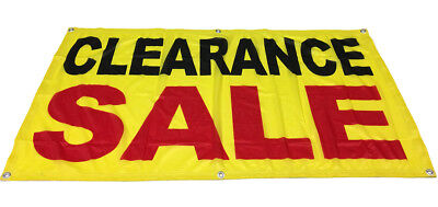 Clearance Sale Banner Sign Vinyl Alternative Store Retail 2x4 Ft - Fabric Yb