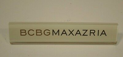 Bcbgmaxazria Eyeglasses Acrylic Sign For Display Very Good Condition Small