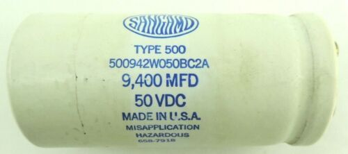 Sangamo 500942W050BC2A Capacitor 9400 uF Type 500 50 VDC from ABB Motor Drive