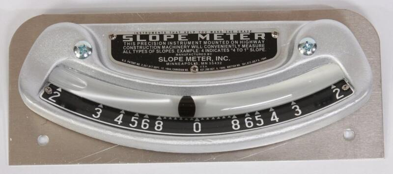 Slope Meter No. 1 widely used on motor graders, bulldozers, and similar