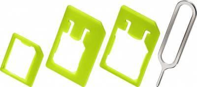 SIM Karten Adapter Nano-SIM Micro-SIM SIM-Format mit SIM-Karten-Slot Öffner