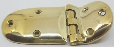 "Cast Brass Ice Box Door Hinge with 3/8"" Offset Fridge Antique Vintage Retro F..."