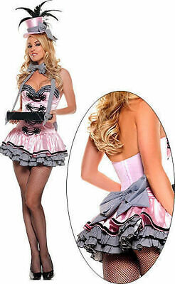 Starline/Trashy T1029 Deluxe Pink Cigarette Girl Fancy Dress Costume Size - Trashy Costume