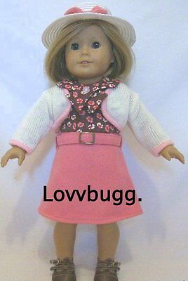 "Lovvbugg Kit Pink School Set for 18"" American Girl Thirties Style Doll Clothes"