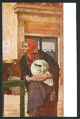 Luigi Serra : Monte di Pietà - cartolina datata (Serra Monte)