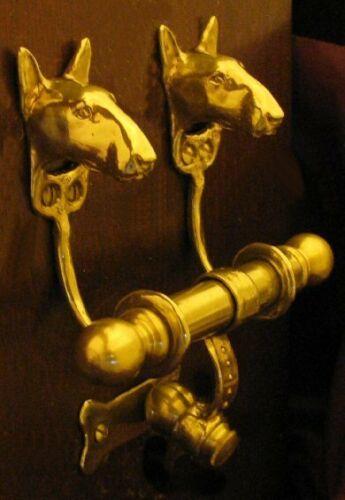 BULL TERRIER Bronze DUET Door Knocker