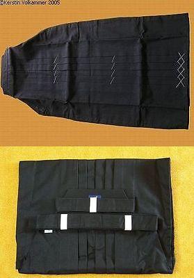 Hakama schwarz Gr. 160 Mischgewebe für Aikido