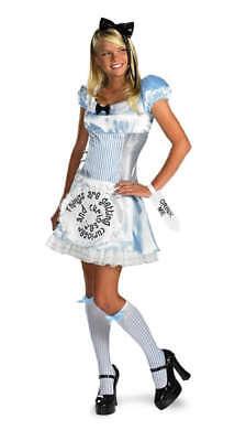 Damen Erwachsener Reiz Disney Alice Im Wunderland Kostüm ()