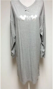 Mickey Mouse grey nightshirt womens Large Christmas