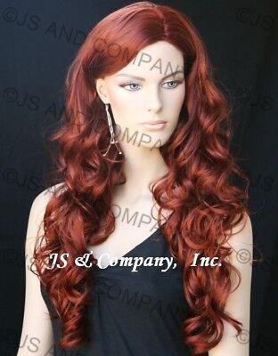 Long Wavy Curly Spiral Jessica Rabbit Red Auburn Wig JSOB 130 - Jessica Rabbit Wig