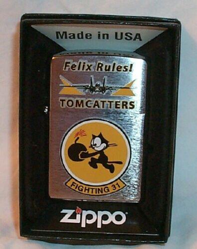 FELIX Tomcats ZIPPO US Navy FIGHTING 31, Felix Cat with Bomb MINT/BOX 2018