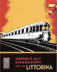 FERROVIE FIAT BREDA Alb48 Automotrice Littorina 1934 Manual Manutenzione - DVD - Italia - L'oggetto può essere restituito - Italia